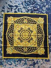 Hermes Of Paris Monnaies et Symbols 90cm 100% Silk Scarf BNWT! Black Gold