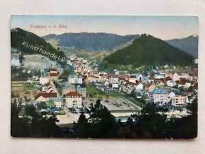 Deutschland Litho-AK Schandau a. d. Elbe, 1913