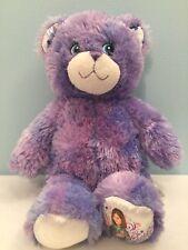 "BAB WIZARDS OF WAVERLY PLACE Purple Teddy Bear Plush Stuffed Animal 15"" W/ Sound"