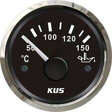 KUS Outboard Oil Temp Gauge Boat Marine Car Engine Temperature Gauge 50-150 °C