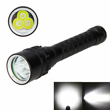 9000lm 3x XM-L T6 LED Underwater 100M Scuba Diving 18650 Flashlight Torch Light