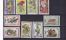 CONGO ex colonie française lot de 10 timbres NON DENTELES faune et flore