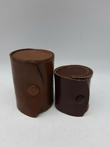 2x Small Leather Accessory, Lens Cases