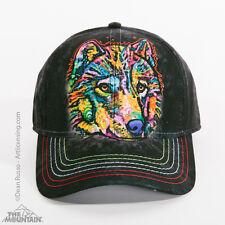 The Mountain Dean Russo Happy Wolf Wild Animal Baseball Cap Strapback Hat 944061