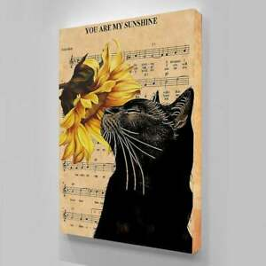 You Are My Sunshine poster, Black cat poster, Lyric poster, Gift