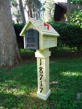 Handcrafted Beveled Sideded Mailbox & Post