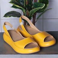 Women Lady Summer Flat Sandals Platform Slip On Open Toe Ankle Strap Beach Shoes