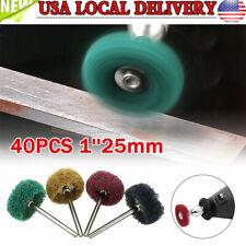 40x 1''25mm Abrasive Wheel Buffing Polishing Pad Kit Grinding Rotary Tool US
