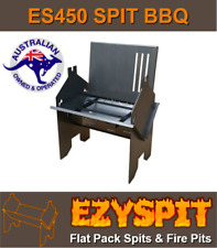 camping fire pit, folding barbecue and Spit Rotisserie ES450 flat pack 450mm