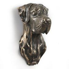 Deutsche Dogge, Statuette hängen an einer Wand, Bronze, Art Dog, CH