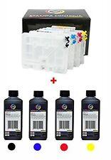 Kit 4 Cartucce Ricaricabili Ricoh GC41 + 1L ink sublimatico per stampanti Afi...