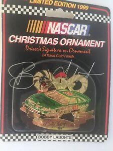 "NASCAR CHRISTMAS ORNAMENT LIMITED EDITION 1999 ""BOBBY LABONTE"""