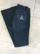 Seven 7 For All Mankind $189 A Pocket Flare Jeans 26 Authentic Rhinestone New **
