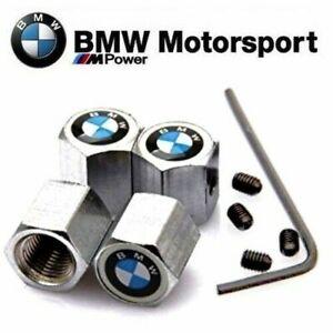 4 x TAPONES PARA VALVULAS BMW DE NEUMATICOS ANTI ROBO B03