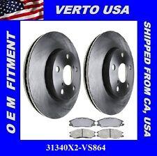 Set OF 2 Disc Brake Rotors & Pads -Front fits 01-05 Hyundai Santa Fe ,31340X2-CP