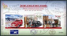 ISRAEL 2013 Post Eisenbahn Train Railways Auto Flugzeug Postkutsche UNGEZÄHNT **