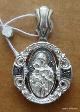 PLATA 282m Colgante Madre Dios Vladimir Consecrated the Relics San Jorge