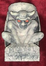 "Gargoyle Winged Concrete Candle Holder 5"" Tall"