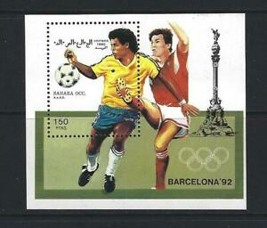SAHARA OCCIDENTAL 1990 HB FUTBOL. BARCELONA 92 DEPORTES