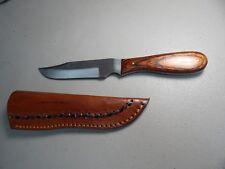 "Hand Made! Sawmill Cutlery Hand Made 10"" File Hunting Knife w/Sheath Case"