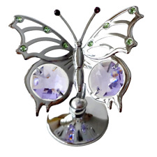 Crystocraft Angel Wing Butterfly Crystal Ornament With Swarovski Elements Boxed