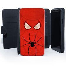 Spiderman Comics Marvel Universe Héroes Peter Parker Cuero Billetera Teléfono Estuche