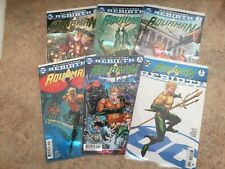 2016 Dc Aquaman Rebirth Comic Run #1, 1 - 5 1st Prints