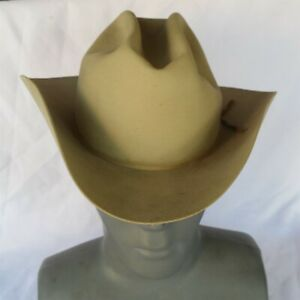 Early Vtg Stetson cowboy hat Royal size 7 1/4 USA made (W/ small issues) Nice
