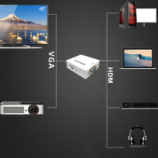 TV Box HDMI 1080P to VGA w/ Audio HD Video Cable Converter Adapter for Projector