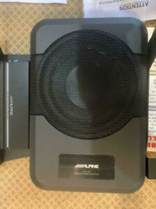 """Alpine Powered 8"""" Subwoofer+Speaker Amplifier+Harness For 2014-20 Toyota Tundra"""