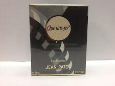 Que Sais-Je? by Jean Patou 2.5 fl.oz / 75 ml Eau De Toilette Splash for Women