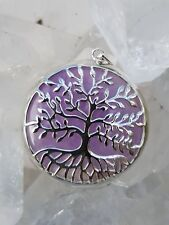 Tree of Life Pendant Amethyst set in Stirling Silver