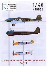 Flevo Aviation Decals 1/48 THE LUFTWAFFE OVER THE NETHERLANDS Part 1