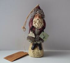 """VINTAGE LOOK 6"""" RED BELSNICKEL SANTA w TOYS CHRISTMAS ORNAMENT ~ Ragon House NWT"""