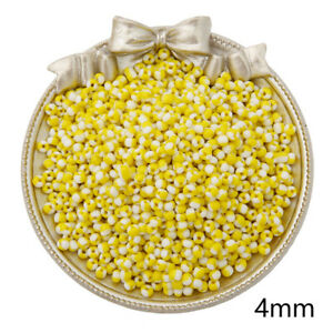 4mm 250PCS Colourful Czech Glass Loose Spacer Beads Jewelry Making Wholesale