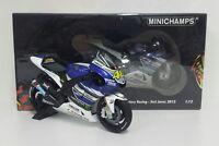 MINICHAMPS VALENTINO ROSSI VR/46 1/12 YAMAHA M1 MOTOGP TEST JEREZ 2013 L.EDITION