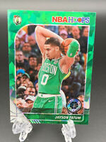 JAYSON TATUM 2019-20 PANINI NBA HOOPS CRACKED ICE GREEN REFRACTOR CARD