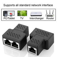 RJ45 Socket Adapter Interface Ethernet Cable 8P8C Extender Plug For Cat 7/6/5e