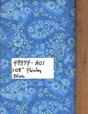 "49374-A01, 108"" EXTRA WIDE QUILT BACKING, BY THE YARD,  PAISLEY - BLUE"