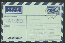 Postal History Austria H&G #FG13  Aerogramme 1971 Vienna to Little Neck NY USA