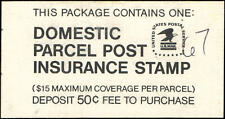 Us #Qi4 Mnh booklet, 50c Domestic Parcel Post Insurance Stamp