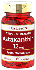 Triple Strength Astaxanthin 12mg Softgels | 60 Count | by Horbaach
