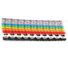 New Hot 100pcs RJ45 RJ11 RJ12 Color Numeric Cable Label Mark