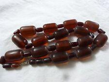 "grams 15 beads 3 cm = 1.2"" Antique Genuine Baltic Amber big Beads Necklace 140"