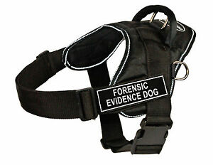 Dean & Tyler DT Fun Nylon Harness Black with Reflective Trim & Removable Patches