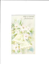 1 card Italian Anniversary greeting card 5050-7 Anniversario