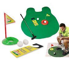 Toilet Bathroom Golf Mat Set Game Potty Putter Novelty