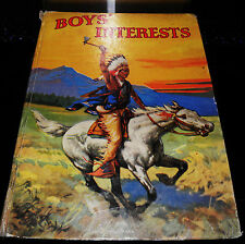 ** BOYS INTEREST LARGE HARD BACK BOOK CIRCA 1927