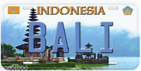 Bali Indonesia Aluminum Novelty Car License Plate P01