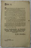 VERWALTUNGSANORDNUNG FORST JAGD 1784 Detlev Alexander von Wenckstern Hannover